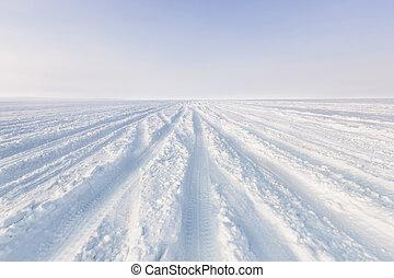 pistes, neigeux