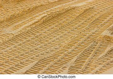pistes, sable