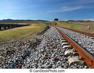 pistes, train, abandonnés