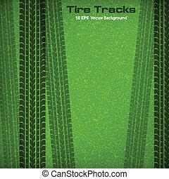 pistes, vert, pneu
