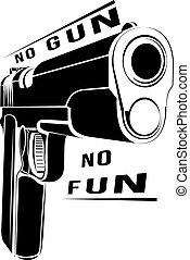 pistol, 1911, gevär, eld, 45, kaliber