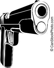 Pistol 1911 gun fire 45 caliber
