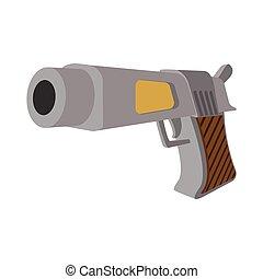 Pistol cartoon icon