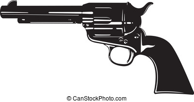 Pistol - This is a vector illustration of an old pistol.