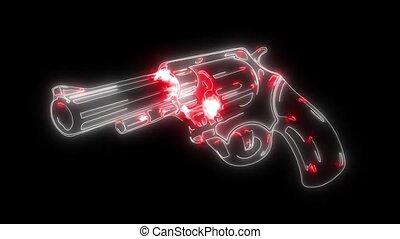 Pistol Gun Icon video animation laser - Pistol Gun Icon...
