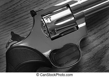 Pistol Handgun Closeup Trigger for Shooting Self Defense or...