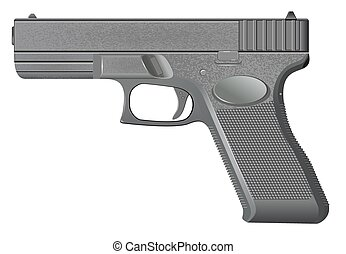 Pistol isolated on white background vector