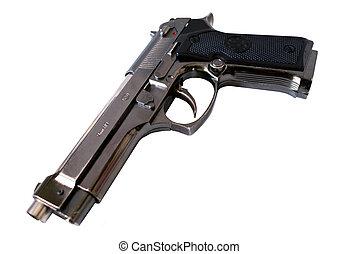 pistol-lighter - pistol lighter model gassy souvenir nickel-...