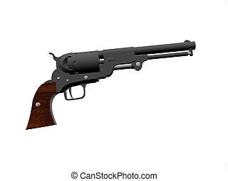 Pistol Old Navy - isolated old navy pistol