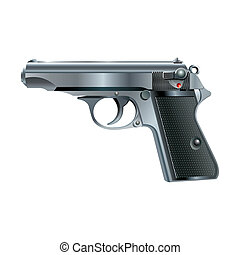Pistol - abstract vector pistol on a white background