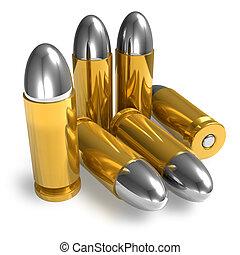 pistola, balas