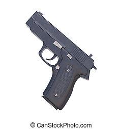 pistola, branco