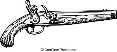 pistola, viejo