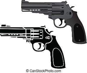 pistolen, zwei