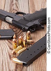 pistolet, balles