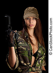 pistolet, femme