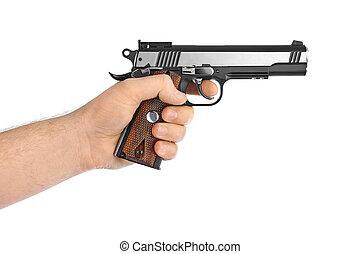 pistolet, main