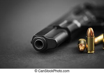 pistolet, munitions
