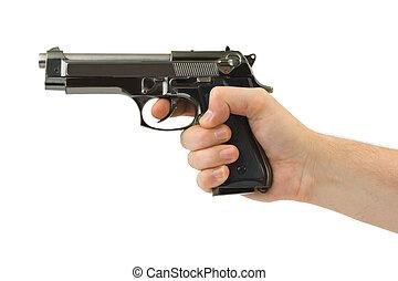 pistolet, ręka