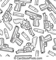 pistolet, seamless, fond