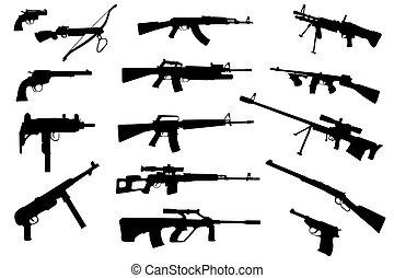 pistolety, zbiór