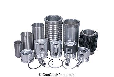 piston - cylinder background