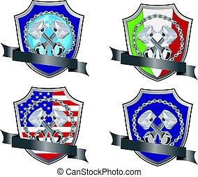 Piston engine adhesives