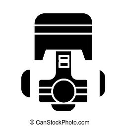 piston repair car engine icon, vector illustration, black sign on isolated background