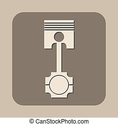 piston vector icon