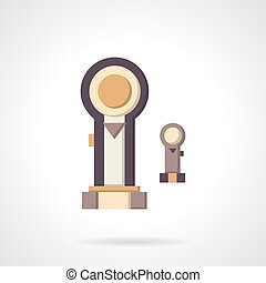 Pistons flat color vector icon