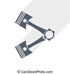 Pistons icon, flat design vector illustration