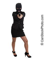 pisztoly, nő