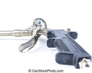 pisztoly, szerszám, foam., állvány, szerkesztés