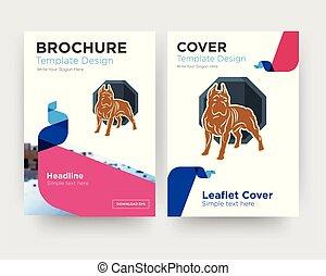 pit bull brochure flyer design template