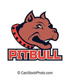 pit bull dog mascot logo isolated on white background. vector illustration