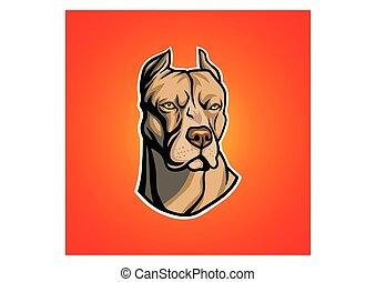 Pit Bull Head - Pit bull head vector