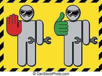 pit stop - mechanic pit stop icons. Vector clip art