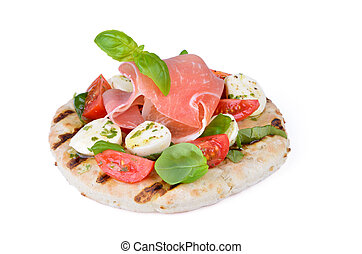 Pita bread with salad - Pita bread with delicious Italian...