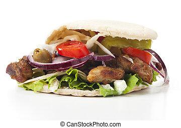 pita chleb, gyros, kebab