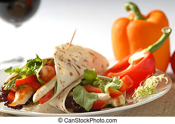 Pita lunch - healthy snack