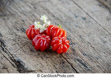 Pitanga. Brazilian cherry.
