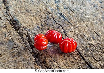 Pitanga. Brazilian cherry. - Tropical fruit called Pitanga,...
