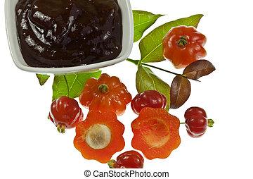 Pitanga Fruit and Jam - Tropical fruit also called Brazilian...