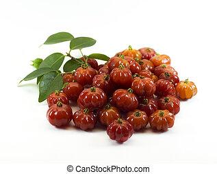 Pitanga. Brazilian cherry aka Brazilian red berry.