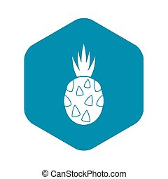 Pitaya, dragon fruit icon, simple style