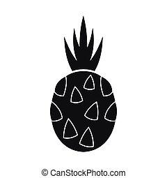 pitaya, drak přivést k zralosti, ikona, jednoduchý, móda