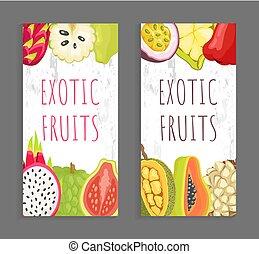 Pitaya Guava, Sugar Apple Jackfruit, Papaya Marang - Exotic...
