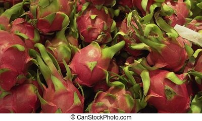 Pitaya or pitahaya sold in supermarket - Pitaya or pitahaya...