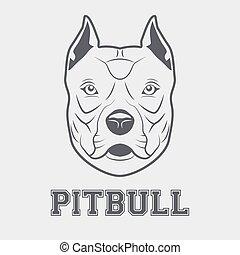 Pitbull head mascot