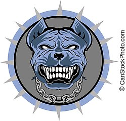 Pitbull stylized VECTOR logo, blue